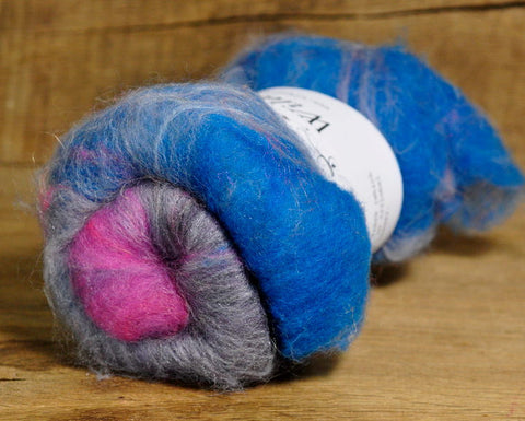 Carded Wool/Luxury Fibre Mystery Batt 50g - 'Dawn'