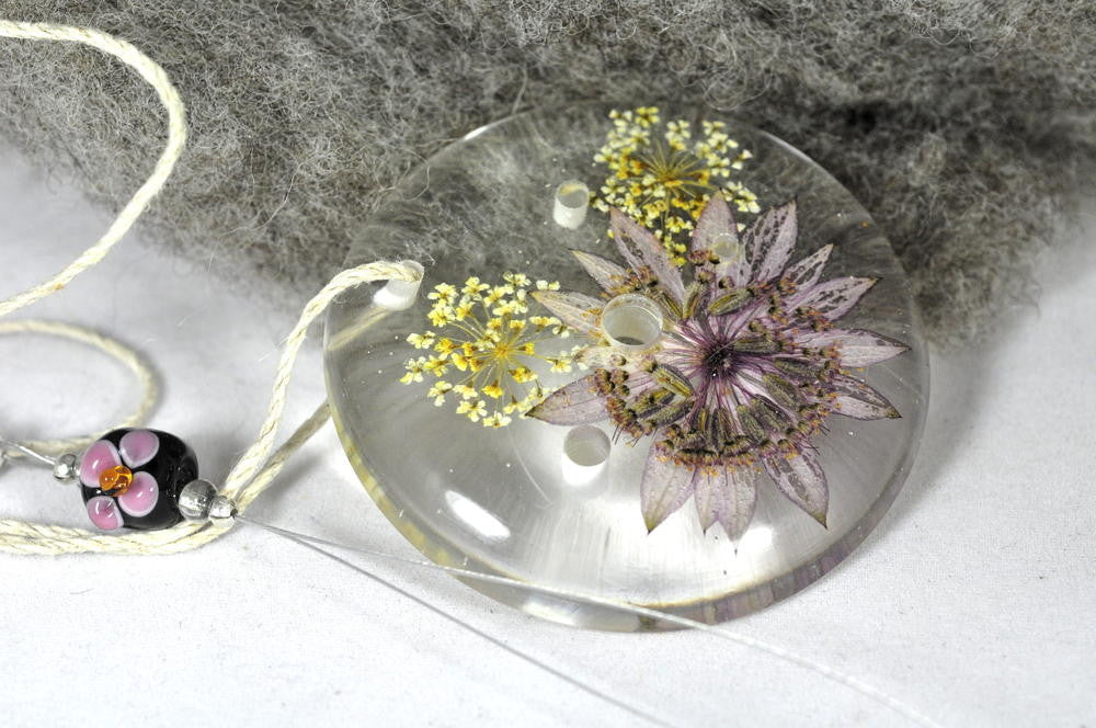 Resin Spinner's Diz with Threader: Astrantia