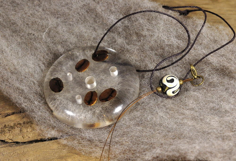 Resin Spinner's Diz with Threader: Coffee Beans