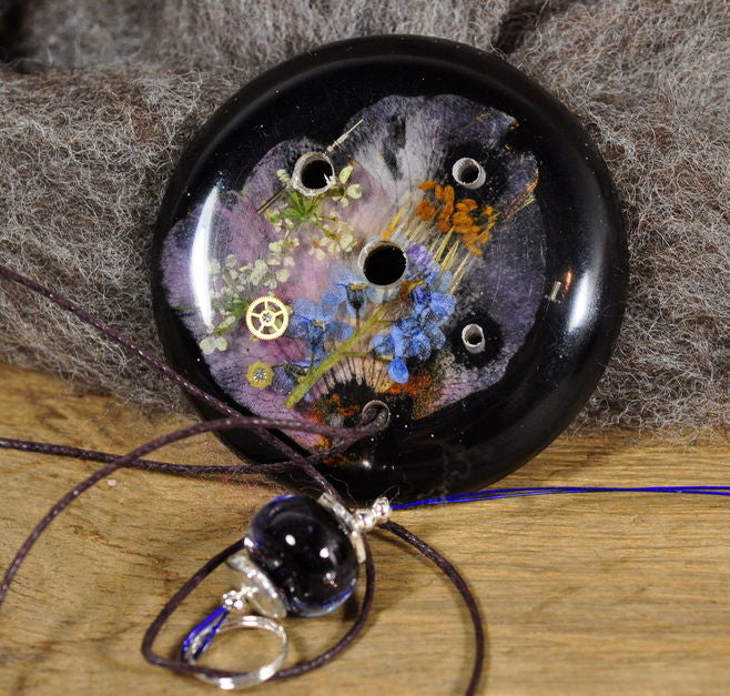 Resin Spinner's Diz with Threader: Night Circus