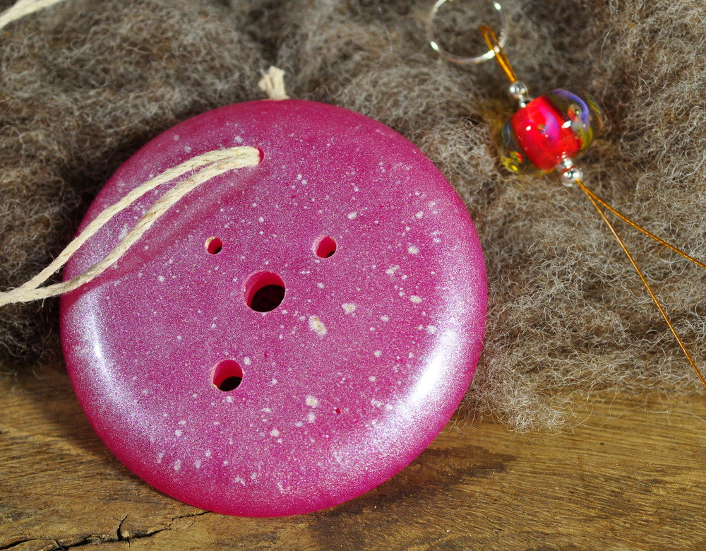 Resin Spinner's Diz with Threader: Pink (bubble bead)