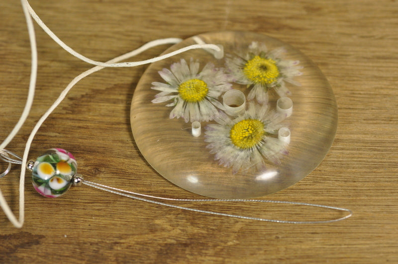 Resin Spinner's Diz with Threader: Daisies