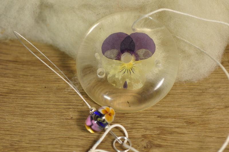 Resin Spinner's Diz with Threader: Viola