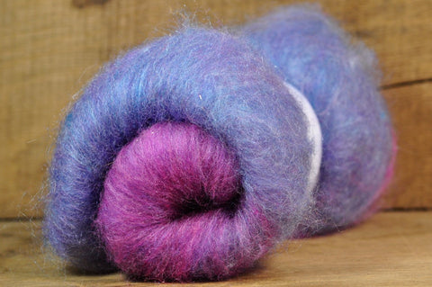 Carded Wool/Luxury Fibre Batt 50g - 'Dreamy'