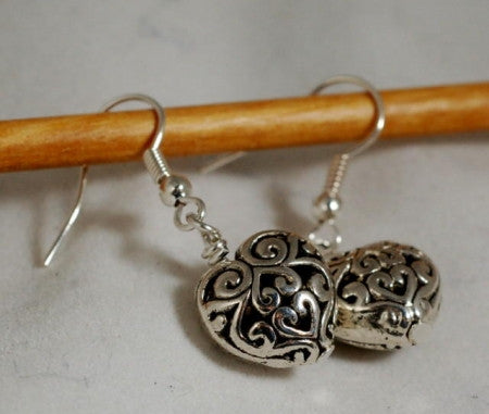 Handmade Earrings - Filigree Hearts