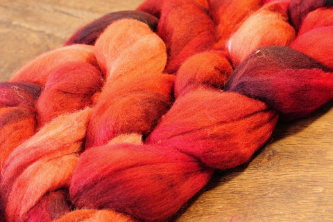 Falkland Wool Top - 'Cherries'