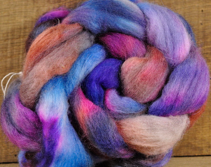 Falkland Wool Top - 'Late Heathers'