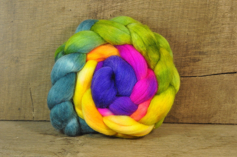 Falkland Wool Top - 'Rainbow Bright'