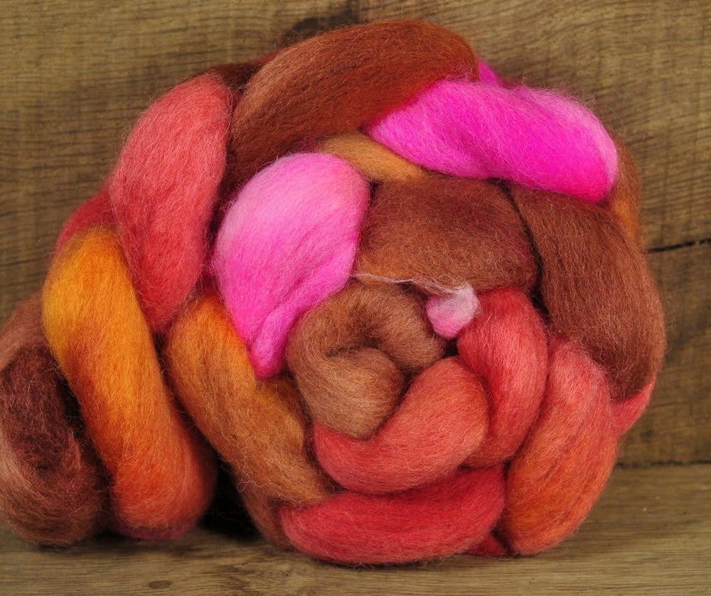 Falkland Wool Top - 'Red Apples'