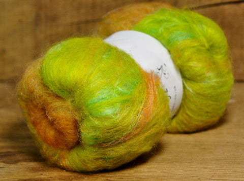 Carded Wool/Luxury Fibre Mystery Batt 50g - 'Fern'
