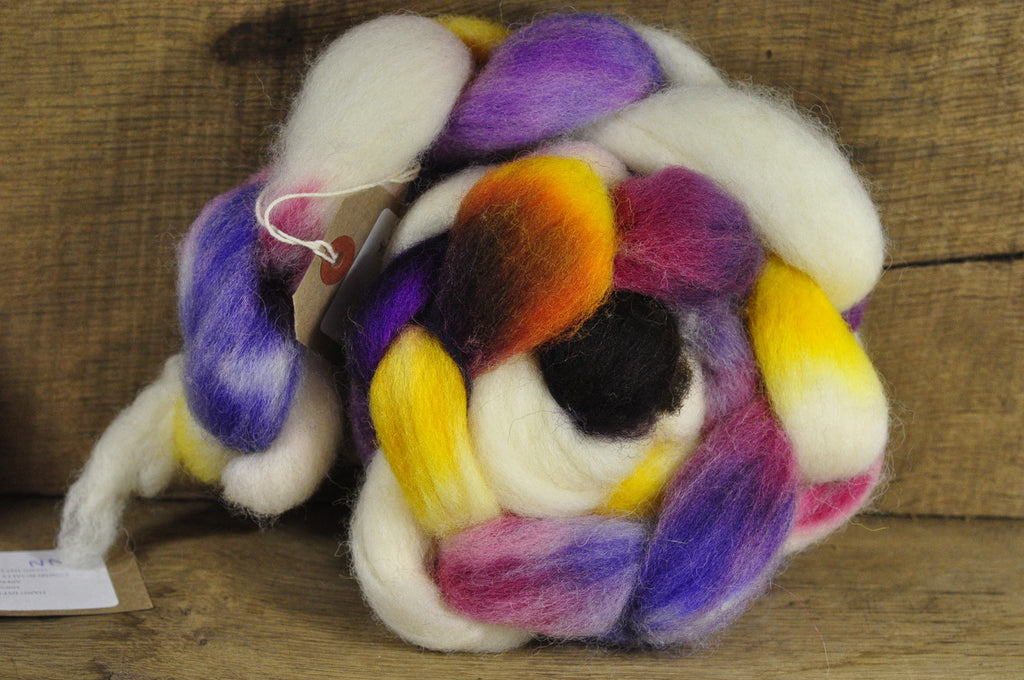 Finn Wool Top for Handspinning - Calico
