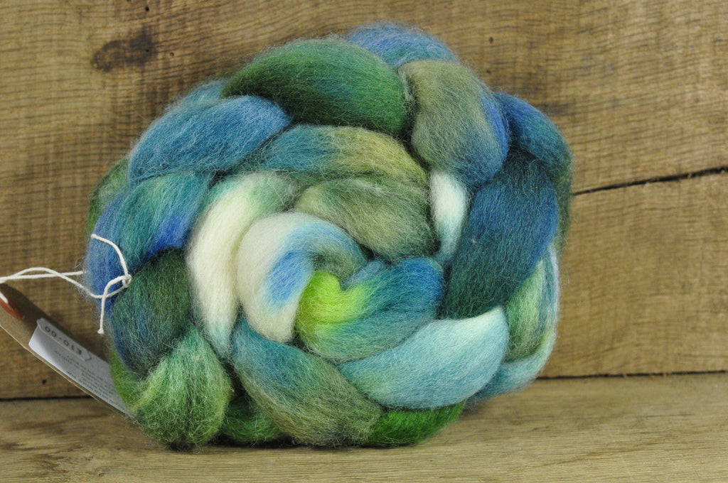Finn Wool Top for Handspinning - Malachite