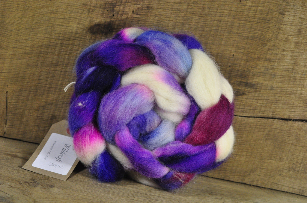 Finn Wool Top for Handspinning - Purple Princess