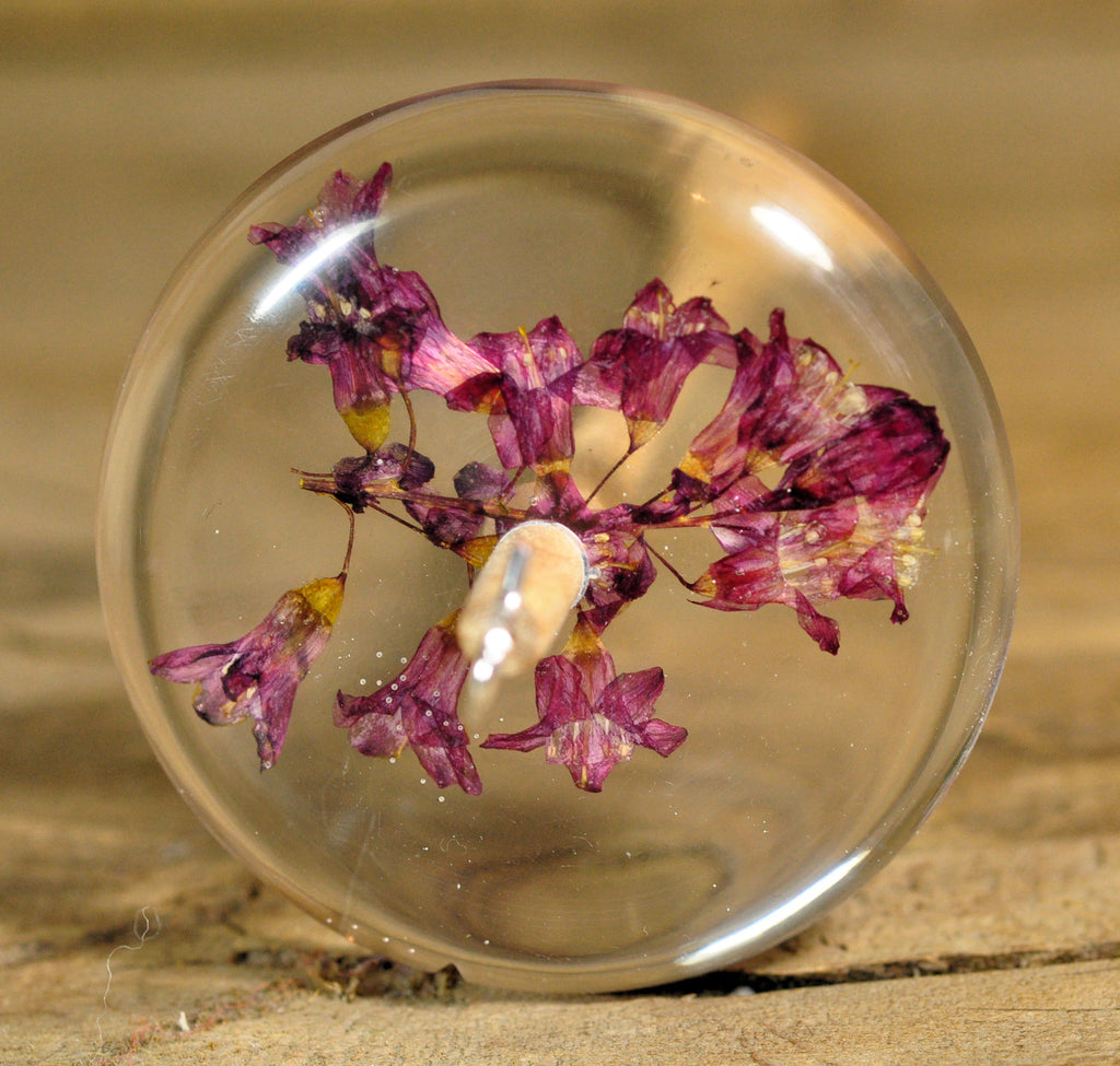 Top Whorl Resin Drop Spindle - Flowering Currant