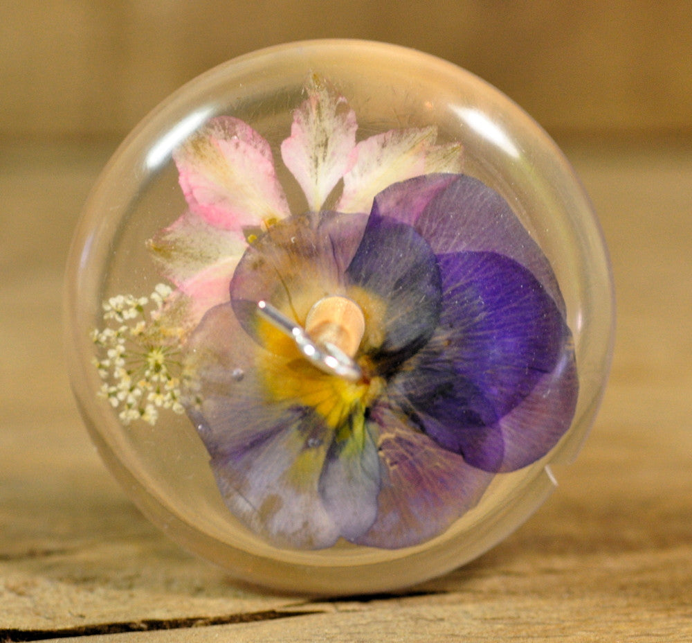 Resin Drop Spindle - Garden Flowers (2)