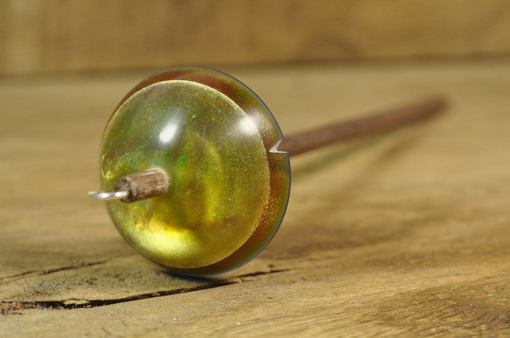 Resin Spindle - Green Pearl