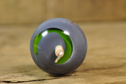Lightweight Resin Drop Spindle - Green Streak