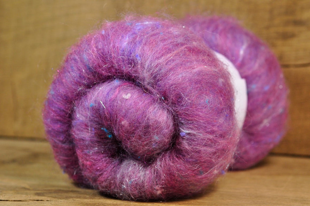 Carded Wool/Luxury Fibre Batt 50g - 'Heathered Tweed'