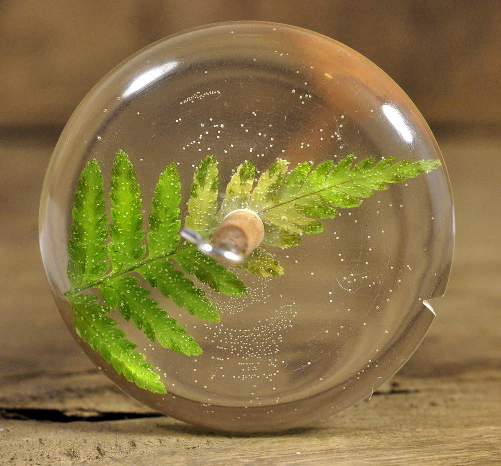 Resin Drop Spindle - Lady Fern (2)
