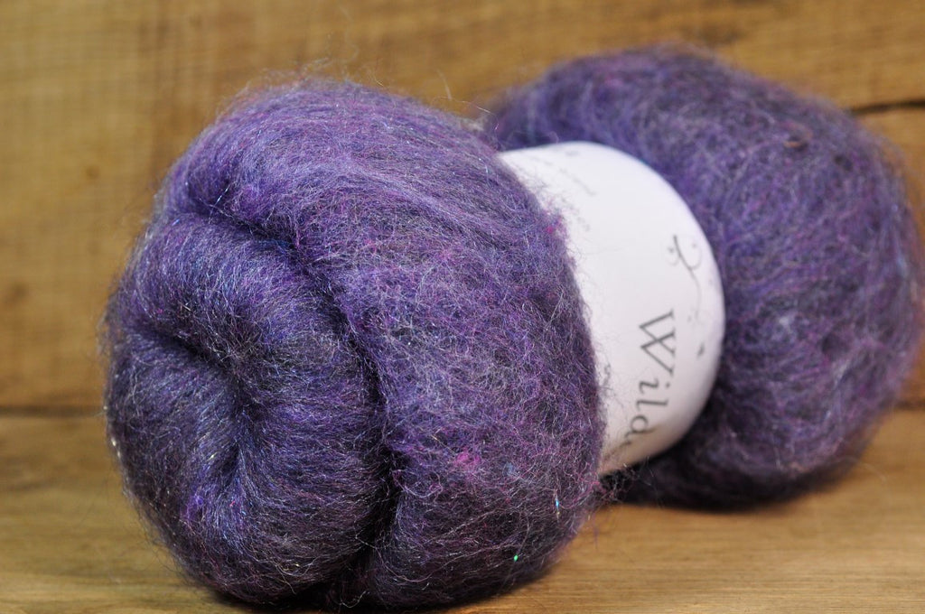 Carded Wool/Luxury Fibre Batt 50g - 'Lavender'