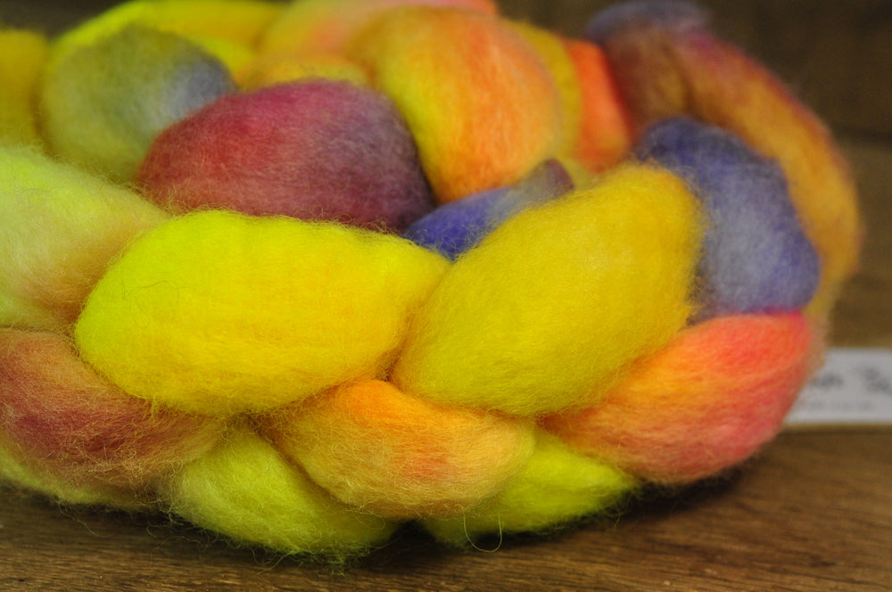 BFL Wool Top for Hand Spinning - 'Lemon Surprise'