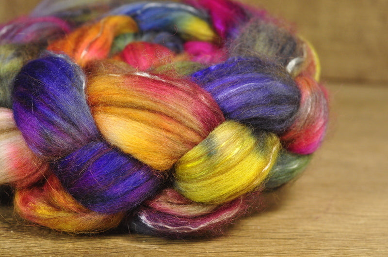 Luxury Merino/Alpaca/Silk/Camel Top for Hand Spinning - 'Apothecary'