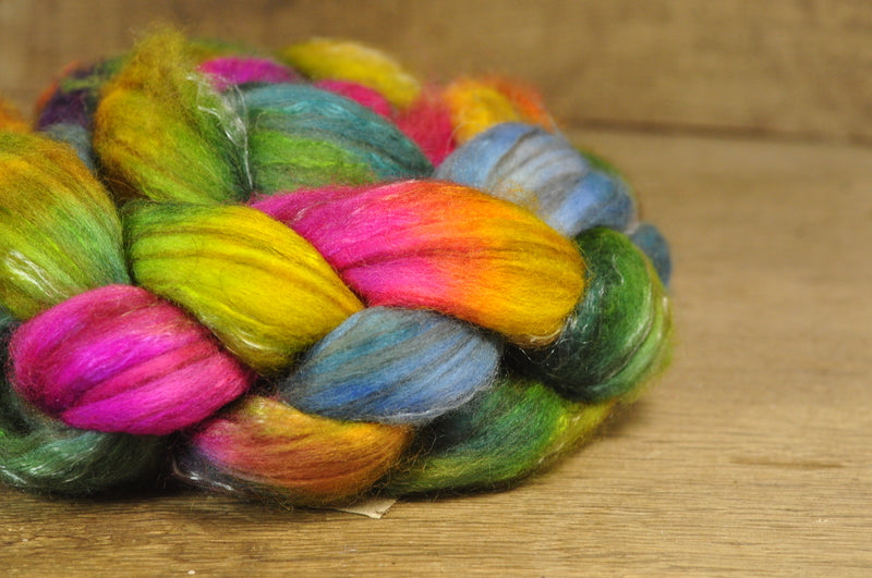 Luxury Merino/Alpaca/Silk/Camel Top for Hand Spinning - 'Funfair'