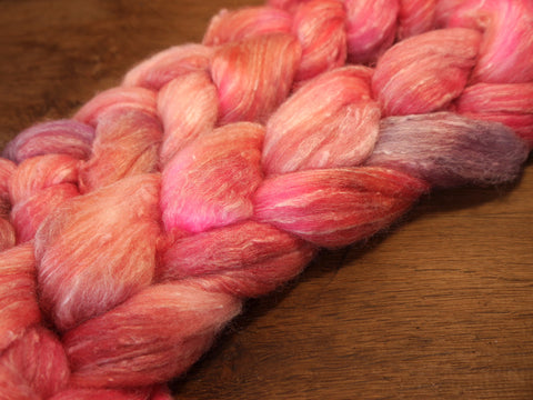 Tweedy Merino/Bamboo Top with Neps for Hand Spinning - 'Lavender Rose'