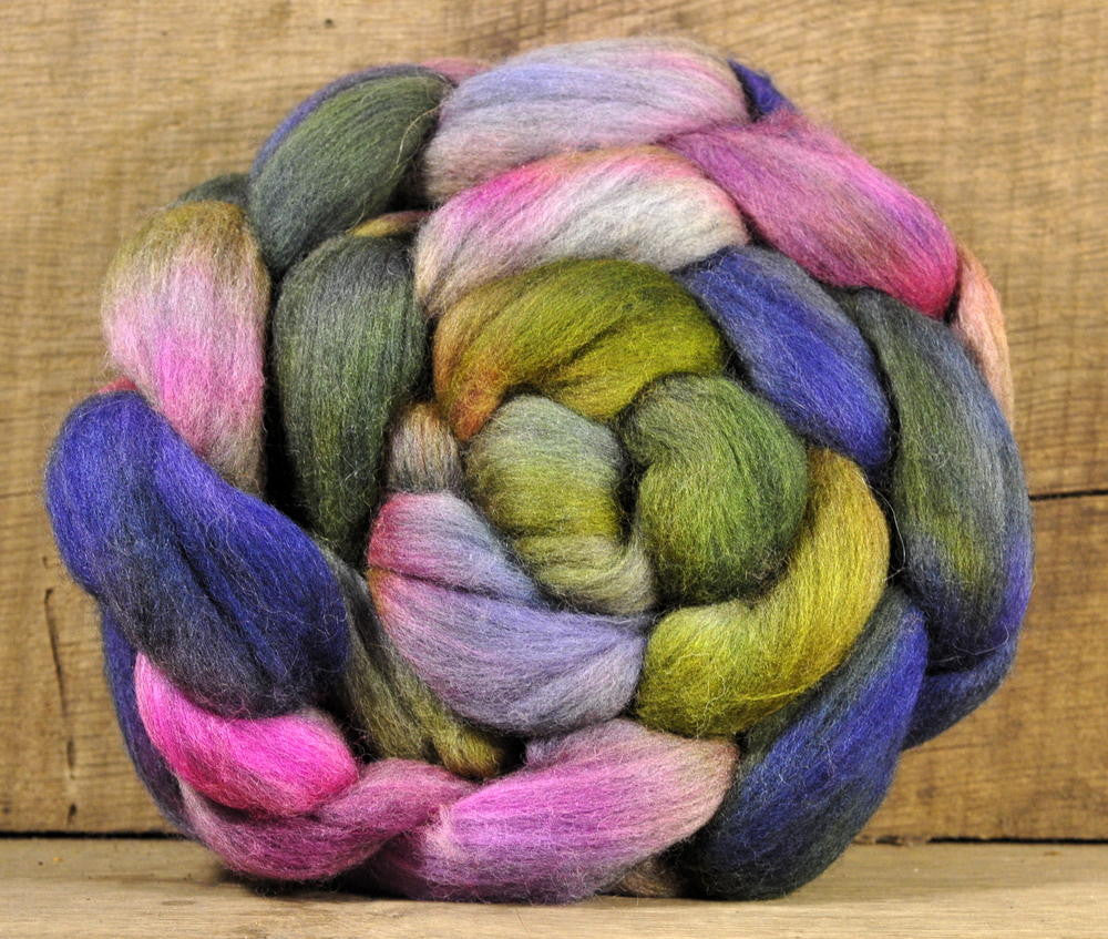 Hand Dyed Merino Wool Top - 'Herbaceuous' (shades)