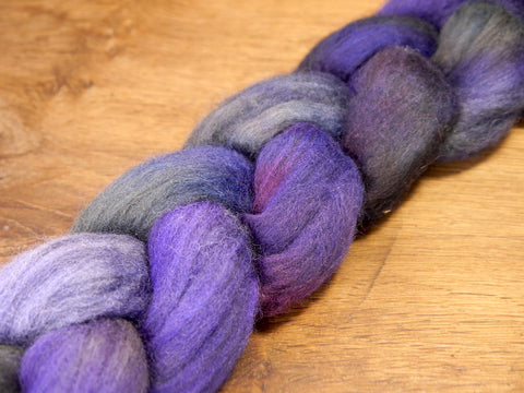100g Hand Dyed Merino Wool Top for Handspinning or Felting - 'Indigo'