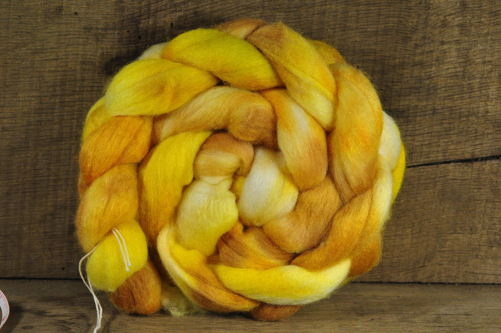 Merino/Silk Top (50/50) for Hand Spinning - 'Butterscotch'