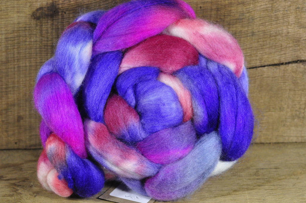 Merino/Silk Top (50/50) for Hand Spinning - 'Purple Princess'