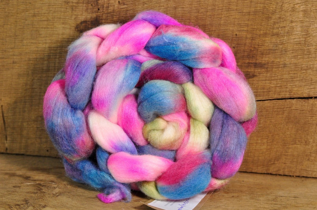 Merino/Silk Top (50/50) for Hand Spinning - 'Rose Garden'