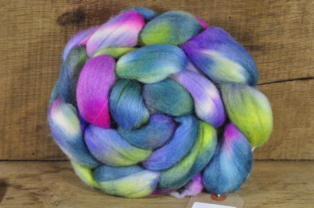Merino/Silk Top (50/50) for Hand Spinning - 'Waterlily'