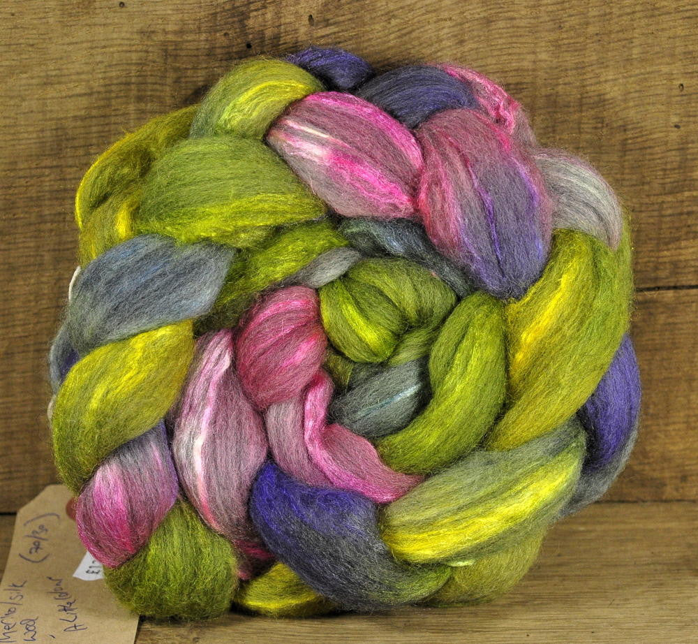 Merino/Silk Top for Handspinning - 'A Little Colour'
