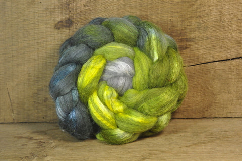 Merino/Silk Top for Handspinning - 'Emerald Gradient'