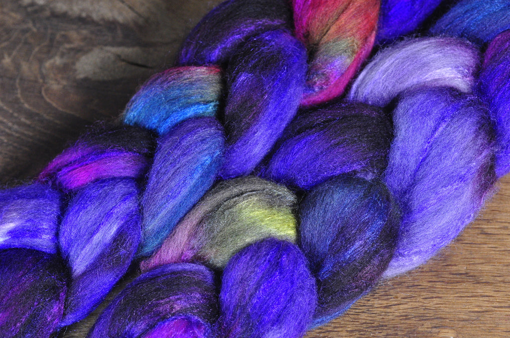 Merino/Silk Top for Hand Spinning - 'Iridescent'
