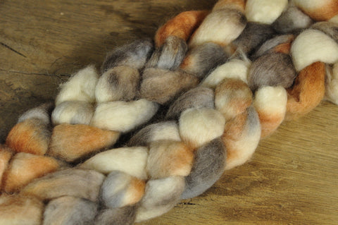 BFL Wool Top for Hand Spinning - 'Owl'
