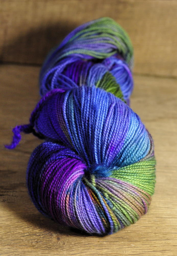 "Hand Dyed Merino/Nylon 4ply Yarn (Oxford 4ply) - ""Bewitch"""