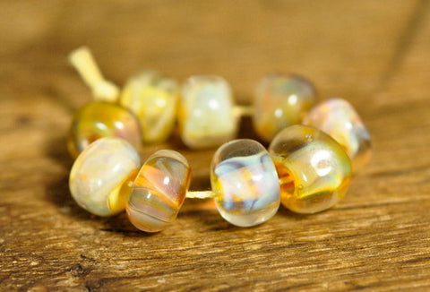 Handmade Lampwork Glass Bead Set - Pearly Nugget Set 2