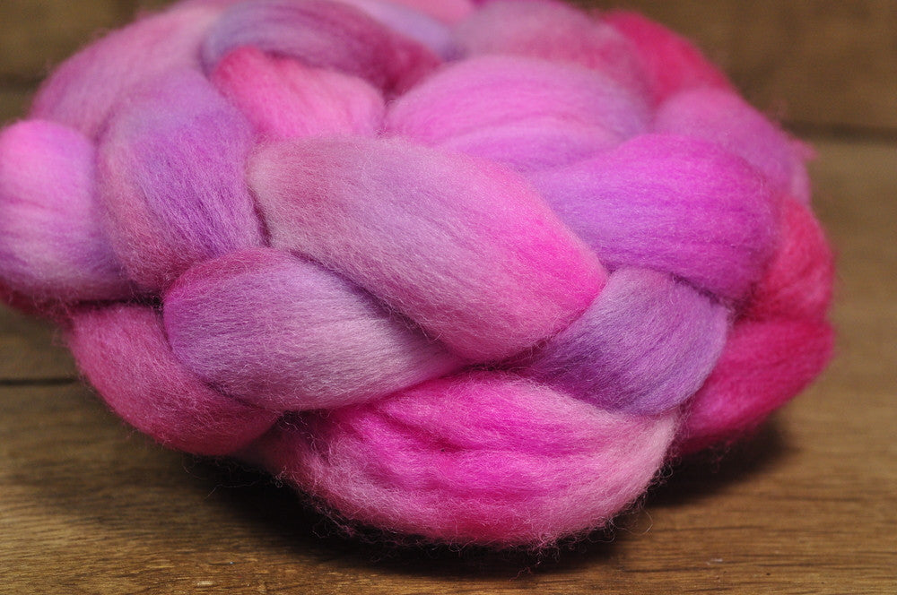 Polwarth Wool Top for Handspinning - 'Blush Lilac'