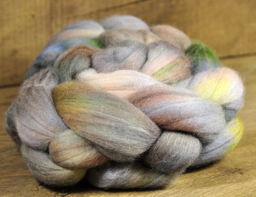Polwarth Wool Top for Handspinning - 'Misty Mountains'