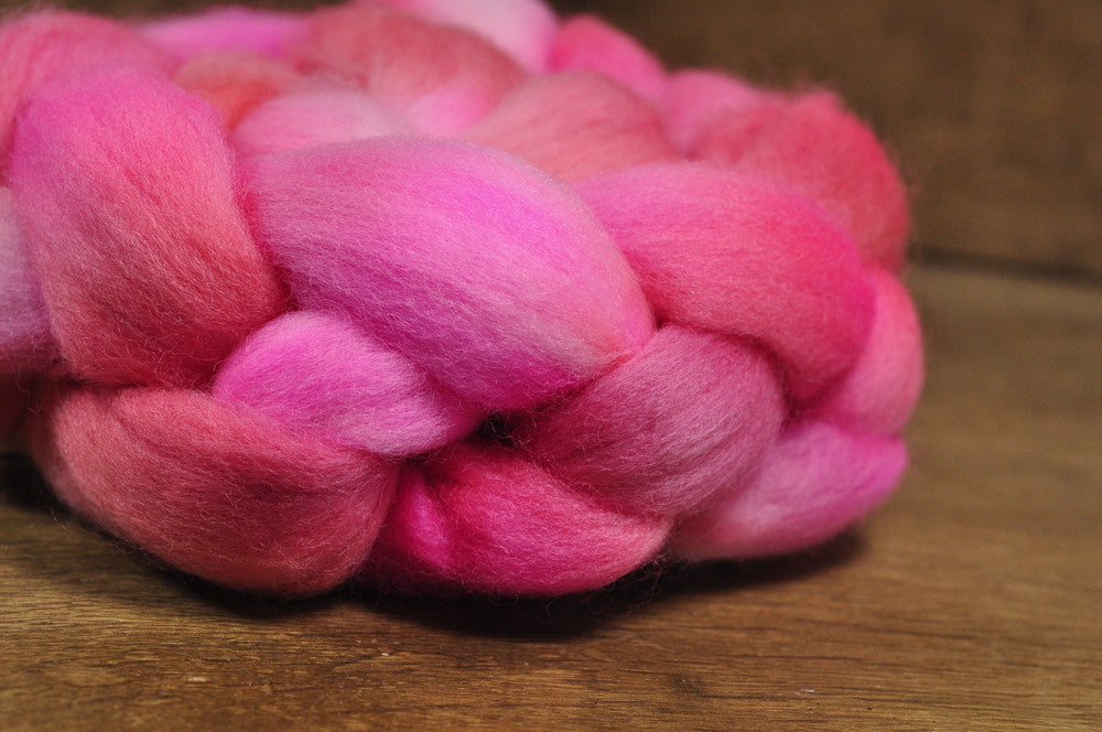 Polwarth Wool Top for Handspinning - 'Rose'
