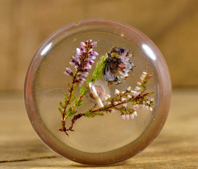 Resin Drop Spindle - Wild Heather