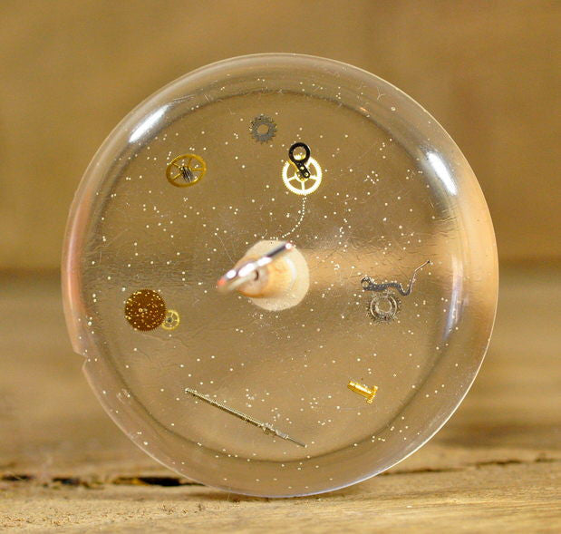 Resin Drop Spindle - Watch Parts (with bubbles)