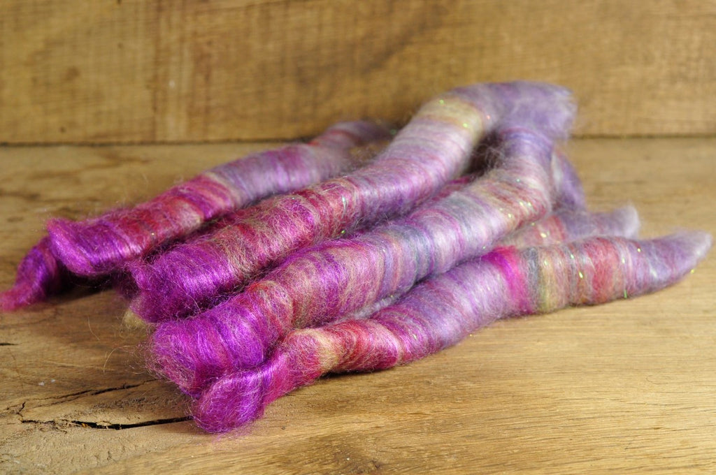 Carded Wool/Luxury Fibre Rolag Set - 'Classica'