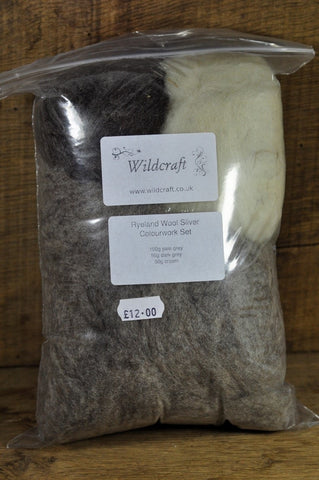 Homegrown Ryeland Wool Sliver - 200g Colourwork Set