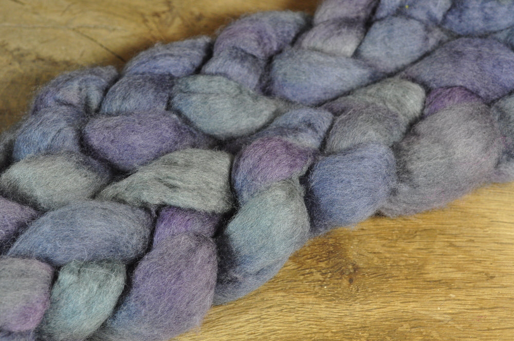 BFL Wool Top for Hand Spinning - 'Sea Mist'