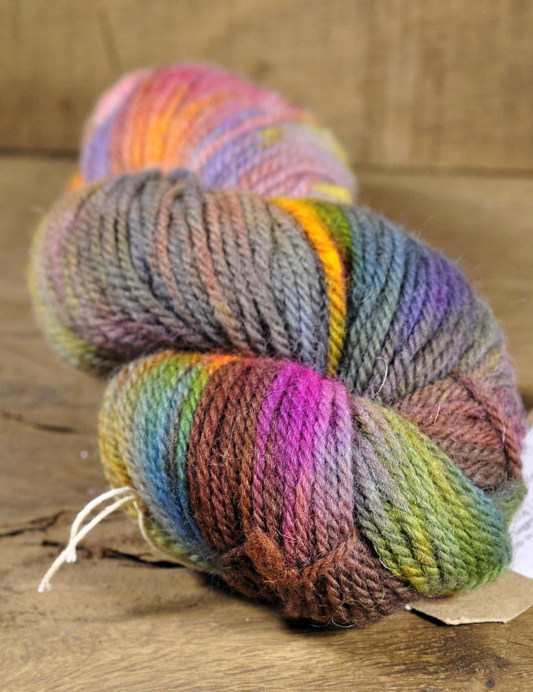 Hand Dyed Shetland Wool Aran Yarn - 'Hedgerow'