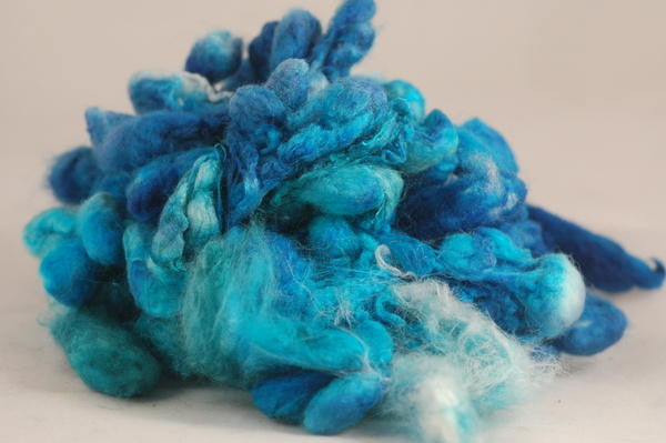 "Dyed Silk Cocoons - ""Azure"""